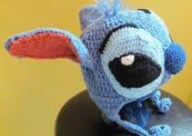 Diseños gorros tejidos de stitch para bebes de 6 meses