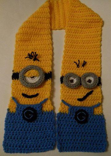 minions tejidos a crochet bufandas
