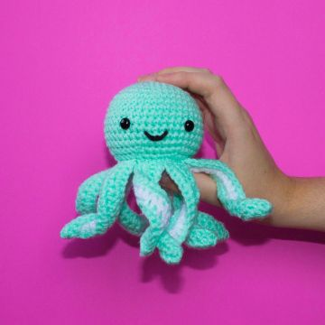 pulpo tejido a crochet sencillos
