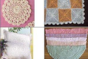 5 ideas en trabajos en crochet para el hogar y relajarse