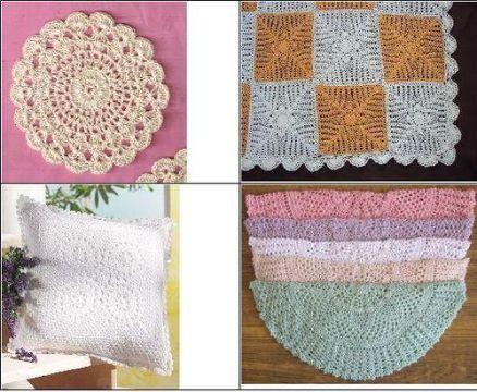 trabajos en crochet para el hogar decorativos