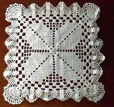 trabajos en crochet para el hogar servilletas