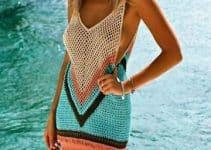 Diseños en vestidos tejidos para playa verano año 2020