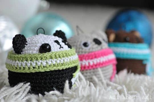 adornos al crochet para colgar animalitos
