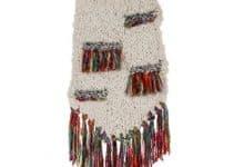 3 diferentes adornos al crochet para colgar y pegar en muros