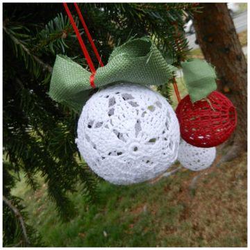 adornos al crochet para colgar para navidad