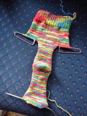 calcetines a dos agujas paso a paso
