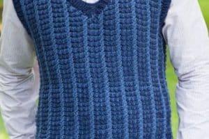 Diseños en chalecos para hombre tejidos 4 puntos