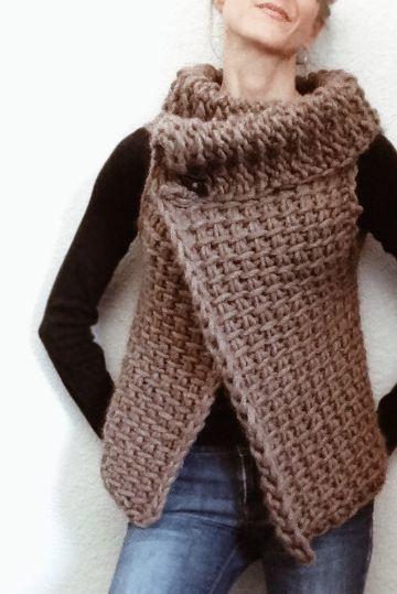 chalecos tejidos a crochet paso a paso moderno