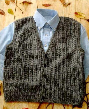 chalecos tejidos a crochet paso a paso para hombre