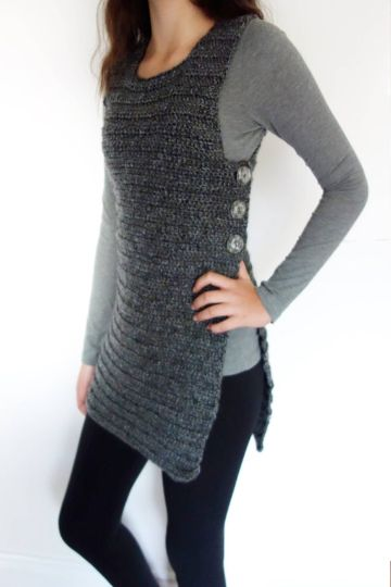 chalecos tejidos a crochet paso a paso tipo vestido