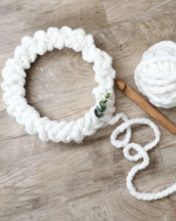 corona de navidad a crochet paso a paso