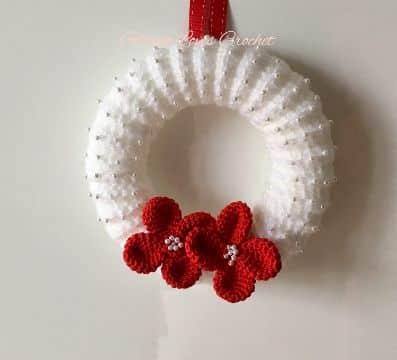 corona de navidad a crochet sencillas