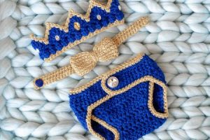 Coronas tejidas para bebes 2 prendas 2 decorativas