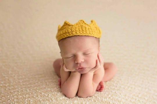 coronas tejidas para bebes disfraz