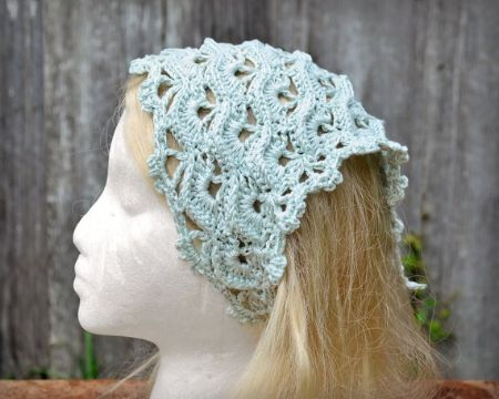 pañoleta tejida a crochet puntos grandes
