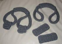 Sencillas asas tejidas para bolsas de 3 tamaños