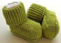 Bonitas botitas de lana para bebe de 3 meses a 1 año