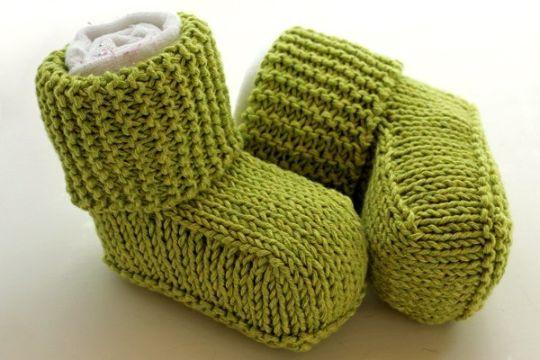 botitas de lana para bebe para invierno
