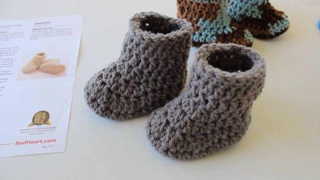 botitas de lana para bebe punto facil