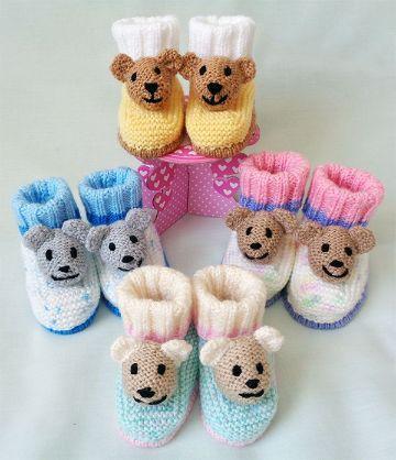 botitas tejidas para niña de animalitos
