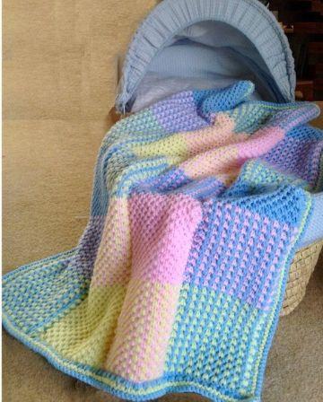 cobijas tejidas para bebe colorida