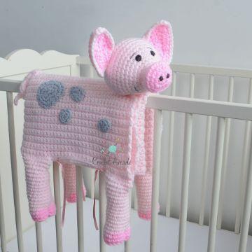 cobijas tejidas para bebe en forma de animal