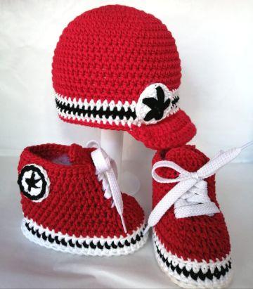 converse tejidos a crochet accesorios