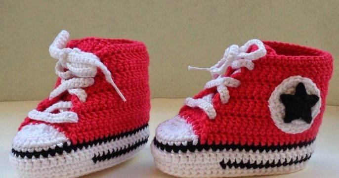 converse tejidos a crochet bebe
