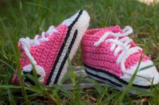 converse tejidos a crochet para niño