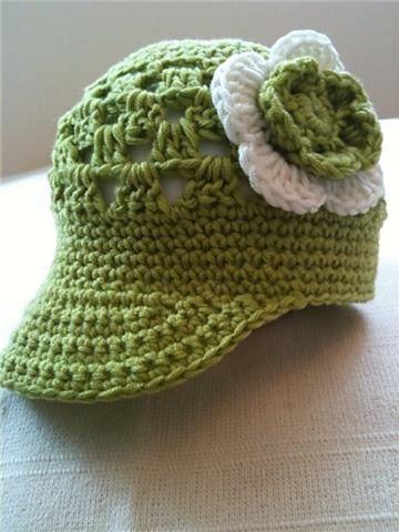 gorras con visera para bebes con flores