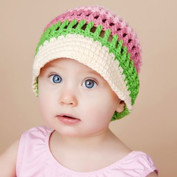 gorras con visera para bebes de colores