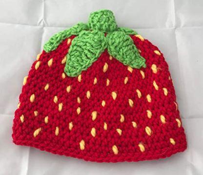 gorras tejidas para bebe de frutas
