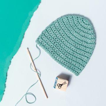 gorras tejidas para bebe punto sencillo