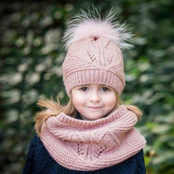 gorro con bufanda para niña de 5 años