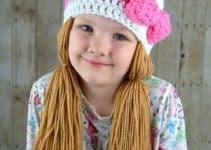 Puntos en espiral  para gorros de estambre para niñas 3 años