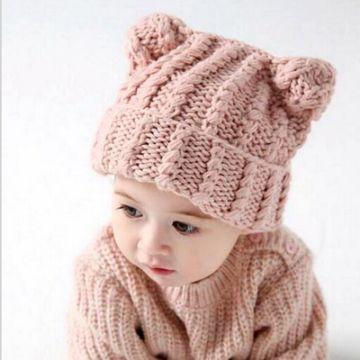 gorros infantiles a crochet con orejas