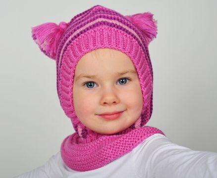 gorros pasamontañas para bebes con bufanda