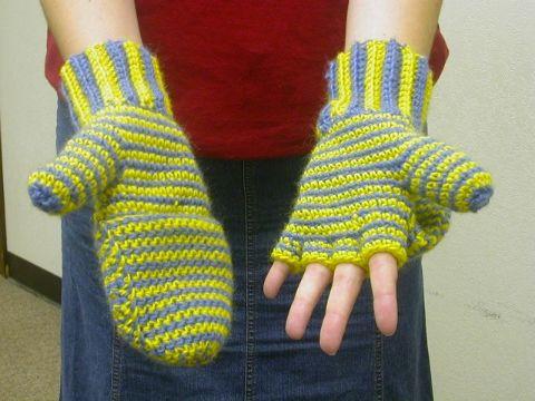mitones a crochet para mujer con cobertura