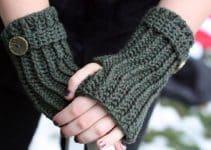 5 pasos para crear mitones a crochet para mujer y niña
