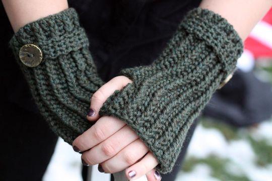 mitones a crochet para mujer puntos