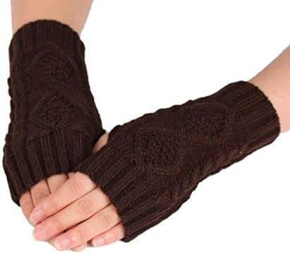 mitones a crochet para mujer sin dedos marcados