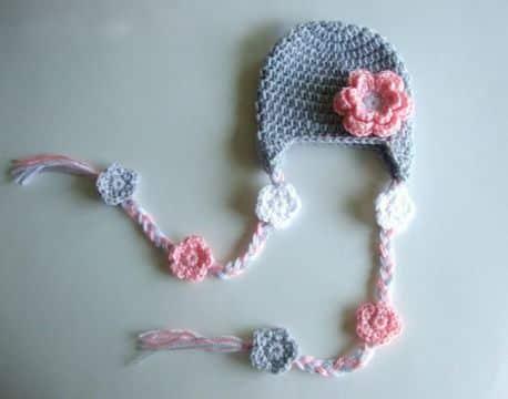 sombreros a crochet para niñas colitas