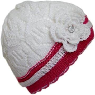sombreros a crochet para niñas franjas y flores