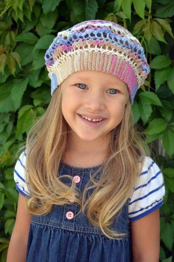 sombreros a crochet para niñas tipo boina