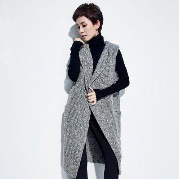 chalecos largos de lana con botones