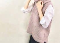 Geniales diseños en chalecos largos de lana a 2 agujas