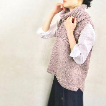 chalecos largos de lana con cuello original