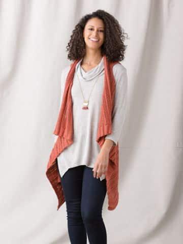 chalecos largos de lana tipo saco