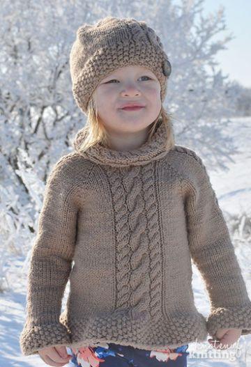 chompas tejidos para niñas a dos agujas